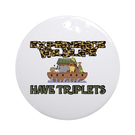 Experience WIldlife Have Triplets Ornament (Round)