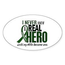 REAL HERO 2 Wife LiC Oval Sticker (10 pk)