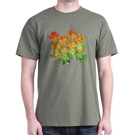 Celtic Leaf Tesselation Dark T-Shirt