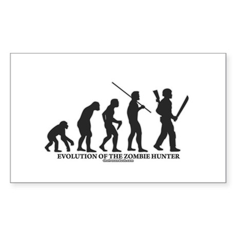 Evolution of the Zombie Hunter Rectangle Sticker