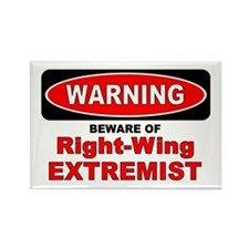 Beware Extremist Rectangle Magnet