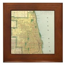 Old Chicago Map Coaster Tile