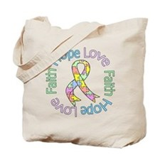 Autism HopeLoveFaith Tote Bag