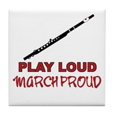 Flute Play Loud Tile Coaster