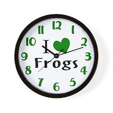 I Love Frogs Wall Clock