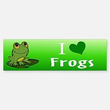 I Love Frogs Bumper Bumper Bumper Sticker