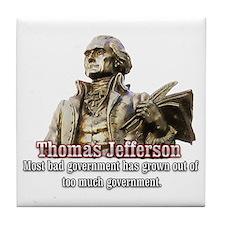 Thomas Jefferson founding father Tile Coaster