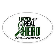 REAL HERO 2 Dad LiC Oval Sticker (10 pk)