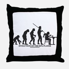 Evolution of the RPG Player Throw Pillow