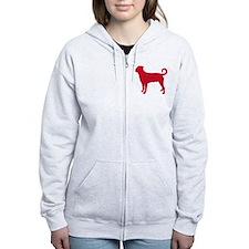 Rottweiler (Undocked Tail) Zip Hoodie