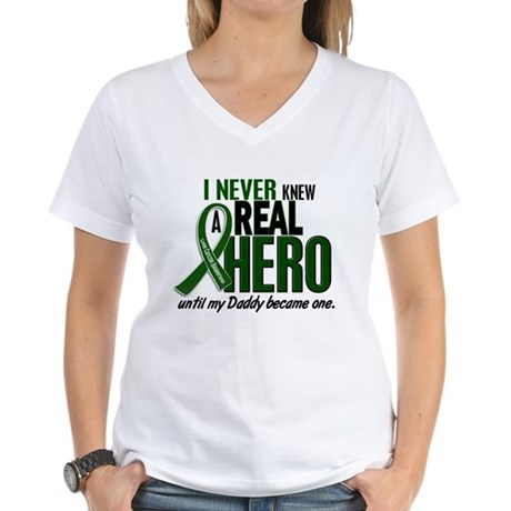 REAL HERO 2 Daddy LiC Women's V-Neck T-Shirt