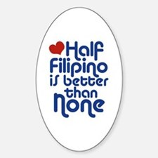 Half Filipino Oval Decal