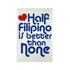 Half Filipino Rectangle Magnet