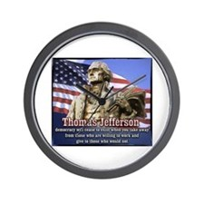 Thomas Jefferson quotes Wall Clock
