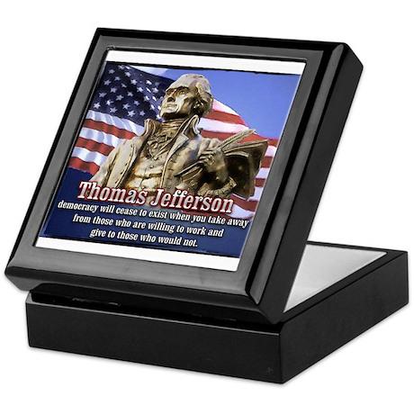 Thomas Jefferson quotes Keepsake Box
