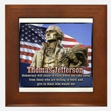 Thomas Jefferson quotes Framed Tile