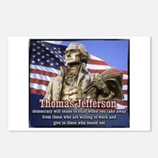 Thomas Jefferson quotes Postcards (Package of 8)
