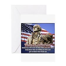 Thomas Jefferson quotes Greeting Card