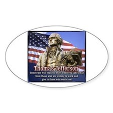Thomas Jefferson quotes Oval Decal