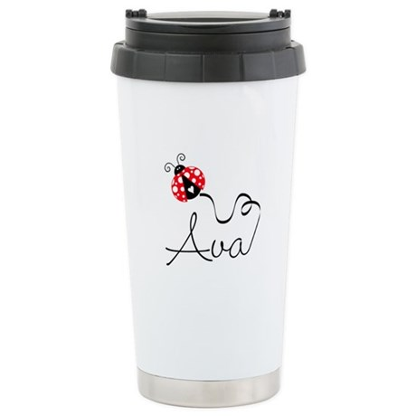 Ladybug Ava Stainless Steel Travel Mug