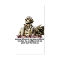 Thomas Jefferson quotes Rectangle Decal