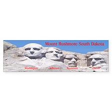 Mount Rushmore Bumper Car Sticker