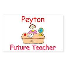 Peyton - Future Teacher Rectangle Decal
