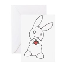 Unique Cute bunny Greeting Card