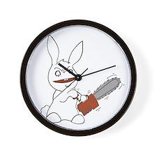 Cute Chainsaw rabbit Wall Clock