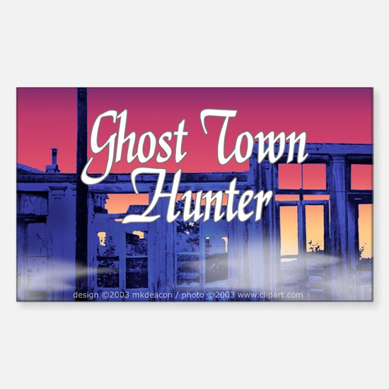 Ghost Town Hunter Rectangle Decal