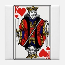 King of Hearts Tile Coaster
