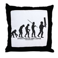 Evolution of the LARPer Throw Pillow