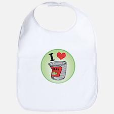 I Love (Heart) Peas Bib