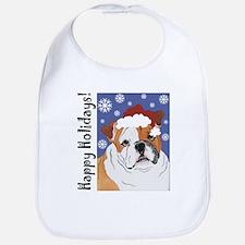 Bulldog Santa Bib