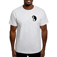 Yin Yang Spades Ash Grey T-Shirt