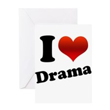 I Heart (love) Drama Greeting Card