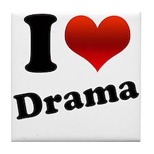 I Heart (love) Drama Tile Coaster