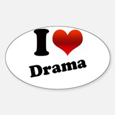I Heart (love) Drama Oval Decal