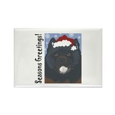Chow Chow Santa Rectangle Magnet (100 pack)
