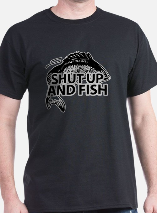 Cute Shut up and fish T-Shirt