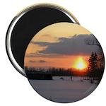 """Winter Sunset 0025 2.25"""" Magnet (10 pack)"""