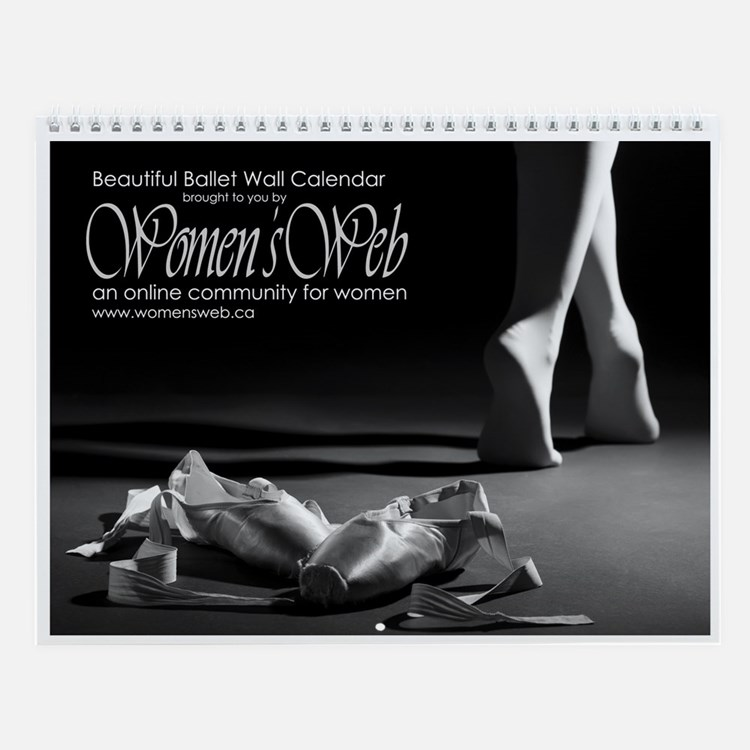 Women's Web Beautiful Ballet Wall Calendar