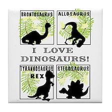Funny Tyrannosaurus rex Tile Coaster