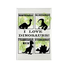 Cute Brontosaurus Rectangle Magnet