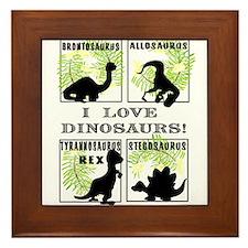 Cute Rex Framed Tile