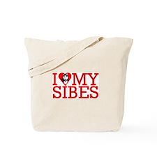I Love My Sibes Tote Bag