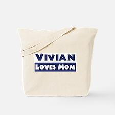 Vivian Loves Mom Tote Bag
