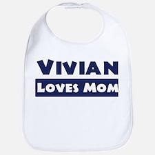 Vivian Loves Mom Bib