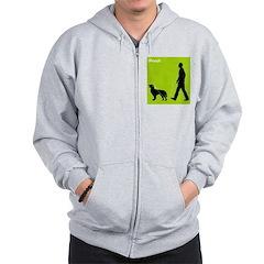 German Longhaired Pointer Zip Hoodie