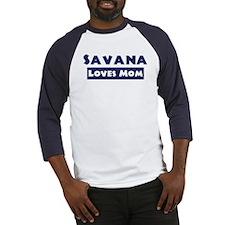 Savana Loves Mom Baseball Jersey